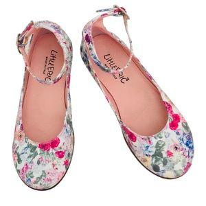 LITTLE ERIC ON MADISON • Vernice Fiori Italian Made Ankle Strap Floral Shoes